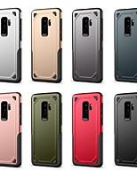 Недорогие -Кейс для Назначение SSamsung Galaxy S9 / S9 Plus / S8 Plus Защита от удара Кейс на заднюю панель Однотонный Твердый ПК