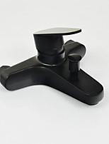 Недорогие -Смеситель для ванны Матовая сталь На стену Керамический клапан Bath Shower Mixer Taps