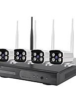 Недорогие -4ch 1080p h.265 водонепроницаемый подключи и играй HD Wireless NVR Kit Система безопасности Wi-Fi Ip Kit