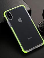 Недорогие -Кейс для Назначение Apple iPhone XS / iPhone XR / iPhone XS Max Защита от удара / Прозрачный Кейс на заднюю панель Однотонный / Прозрачный Мягкий ТПУ