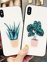 Недорогие -чехол для яблока iphone 6 / iphone x рисунок / зеркало задняя крышка дерево закаленное стекло для iphone 6 / iphone 6 plus / iphone 6s