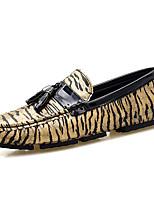 Недорогие -Муж. Комфортная обувь Полиуретан Весна лето На каждый день Мокасины и Свитер Нескользкий Золотой / Серебряный / на открытом воздухе
