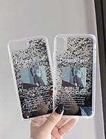 Недорогие -Кейс для Назначение Apple iPhone XS / iPhone XR / iPhone XS Max Движущаяся жидкость / С узором Кейс на заднюю панель Мультипликация Твердый Акрил
