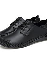 Недорогие -Муж. Комфортная обувь Полиуретан Лето / Осень Спортивные / На каждый день Мокасины и Свитер Для прогулок Дышащий Сапоги до середины икры Черный / Темно-русый / Темно-коричневый / С отверстиями