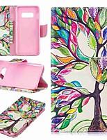 Недорогие -Кейс для Назначение SSamsung Galaxy S9 / S9 Plus / S8 Plus Кошелек / Бумажник для карт / со стендом Чехол дерево Твердый Кожа PU