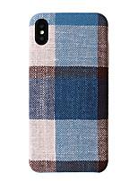 Недорогие -Кейс для Назначение Apple iPhone XS / iPhone XR / iPhone XS Max С узором Кейс на заднюю панель Геометрический рисунок Мягкий текстильный