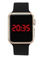 Недорогие -Муж. электронные часы Цифровой силиконовый Светодиодная лампа Цифровой На каждый день Мода - Синий Розовый Светло-синий