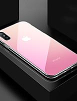 Недорогие -чехол для яблока iphone xs max / iphone x зеркало задняя крышка цвет градиент закаленное стекло для iphone x / iphone xs / iphone xr