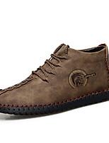 cheap -Men's Microfiber Fall / Spring & Summer Casual / Vintage Oxfords Breathable Mid-Calf Boots Light Brown / Khaki / Black