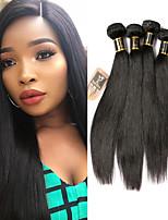 Недорогие -6 Связок Малазийские волосы Прямой 100% Remy Hair Weave Bundles Человека ткет Волосы Пучок волос One Pack Solution 8-28 дюймовый Естественный цвет Ткет человеческих волос Жизнь Классический Sexy Lady
