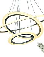 Недорогие -Современные светодиодные подвесные светильники для кухни столовой гостиной подвесной светильник акриловые потолочные люстры подвесной белый серебряный спальня подвесной светильник 110-120 В / 220-240