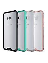 Недорогие -Кейс для Назначение SSamsung Galaxy S8 Plus / S8 Прозрачный Кейс на заднюю панель Однотонный Твердый Акрил