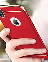 Недорогие -чехол для apple iphone xs max / iphone x противоударная задняя крышка 3 в 1 жесткий ПК ультра тонкий царапинам матовая гальваническая крышка корпуса для iphone 7 / iphone 7 plus / iphone 8