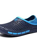 Недорогие -Муж. Комфортная обувь ПВХ Осень / Весна лето Мокасины и Свитер Черный / Синий / Серый