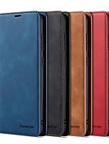 Недорогие -Кейс для Назначение SSamsung Galaxy A6 (2018) / Galaxy A7(2018) / A8 2018 Кошелек / Бумажник для карт / Защита от удара Чехол Однотонный Твердый Кожа PU