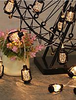 Недорогие -1,5 м Гирлянды 10 светодиоды Тёплый белый / RGB Для вечеринок / Декоративная / обожаемый Аккумуляторы AA 1шт