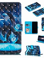 Недорогие -Кейс для Назначение Apple iPhone XS / iPhone XR / iPhone XS Max Кошелек / Бумажник для карт / Защита от удара Чехол Мультипликация Твердый Кожа PU