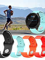 Недорогие -Спортивный силиконовый браслет ремешок для часов ремешок для часов Garmin предтечи 245 м / предшественник 645 / Vivoactive 3 / Vivomove Hr Smart Watch