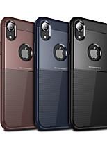 Недорогие -чехол для яблока iphone xs max / iphone x противоударный / пылезащитный задняя крышка однотонный жесткий ПК / силикон / тпу для iphone x / iphone xs / iphone xr