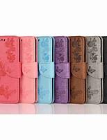 Недорогие -Кейс для Назначение OnePlus OnePlus 6 / Один плюс 7 / One Plus 7 Pro Кошелек / Бумажник для карт / Флип Чехол Однотонный / Бабочка Твердый Кожа PU