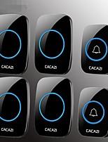 Недорогие -беспроводной дверной звонок два буксира два беспроводной пейджер интеллектуальная электронная музыка дверной звонок домой дверной звонок