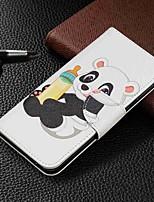 Недорогие -Кейс для Назначение SSamsung Galaxy Galaxy A7(2018) / Galaxy A10 (2019) / Galaxy A30 (2019) Кошелек / Бумажник для карт / со стендом Чехол Панда Твердый Кожа PU