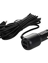 Недорогие -3,5 м 5 В 3,5a мини USB автомобильное зарядное устройство с 2 портами USB для автомобильного видеорегистратора камеры GPS видеомагнитофон modelsmini USB левый изгиб