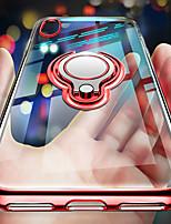 Недорогие -чехол для iphone xs / iphone xr прозрачный / ультратонкий / держатель кольца задняя крышка прозрачная / однотонная мягкая тпу iphone 6 / iphone 6 plus / iphone 6s plus / iphone 7 / iphone 7 plus /