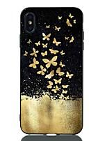 Недорогие -Кейс для Назначение Apple iPhone XS / iPhone XR / iPhone XS Max Защита от удара / С узором Кейс на заднюю панель Бабочка Мягкий ТПУ