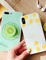 Недорогие -Кейс для Назначение Apple iPhone X / iPhone 8 Pluss / iPhone 8 со стендом / С узором Кейс на заднюю панель Мультипликация Твердый Закаленное стекло