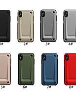 Недорогие -чехол для яблока iphone xr / iphone xs max тисненая задняя крышка сплошной цветной жесткий ПК / тпу для iphone x xs 8 8plus 7 7plus 6 6s 6plus 6s plus