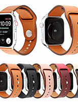 Недорогие -ремешок из натуральной кожи в стиле заклепки для apple watch band series 4 3 2 1 браслет мужской / женский кожаный ремешок 44мм / 40мм / 38мм / 42мм