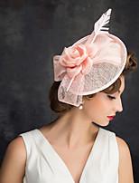 cheap -Queen Elizabeth Audrey Hepburn Retro Vintage 1950s 1920s Kentucky Derby Hat Pillbox Hat Women's Costume Hat Pink Vintage Cosplay Party Prom