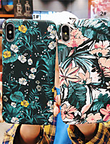 Недорогие -чехол для яблока iphone xr / iphone xs max pattern / матовая задняя крышка цветок жесткий пк для iphone x xs 8 8plus 7 7plus 6 6s 6plus 6s plus