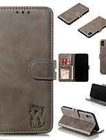 Недорогие -чехол для iphone xr iphone xs max чехол для телефона искусственная кожа материал happy cat pattern сплошной цвет чехол для телефона iphone xs x 8 8 плюс 7 7 плюс 6 с 6 плюс 6 с 6