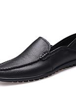 Недорогие -Муж. Кожаные ботинки Кожа Весна лето Английский Мокасины и Свитер Черный / Желтый / Коричневый