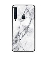 Недорогие -Кейс для Назначение SSamsung Galaxy Galaxy A7(2018) / A9 Star / A8 2018 С узором Кейс на заднюю панель Однотонный Твердый Закаленное стекло