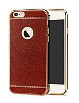 Недорогие -Кейс для Назначение Apple iPhone XS / iPhone X / iPhone 8 Pluss Защита от удара Кейс на заднюю панель Однотонный Твердый Кожа PU