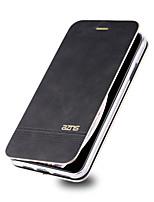Недорогие -чехол для яблока iphone xr / iphone xs max флип / держатель для карты чехлы для всего тела однотонная твердая кожа pu для iphone xs iphone 8 plus iphone 8 iphone 7 plus iphone 7