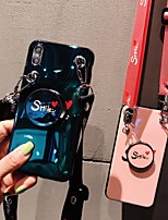Недорогие -Кейс для Назначение Apple iPhone XS / iPhone XR / iPhone XS Max со стендом / С узором Кейс на заднюю панель С сердцем Мягкий ТПУ