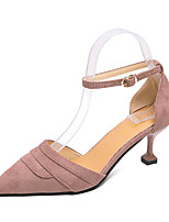 Недорогие -Жен. Обувь на каблуках На каблуке-рюмочке Полиуретан На каждый день Лето Черный / Лиловый