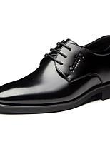 Недорогие -Муж. Официальная обувь Кожа Весна лето Английский Мокасины и Свитер Высота возрастающей Черный