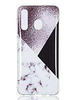 Недорогие -Кейс для Назначение SSamsung Galaxy A6 (2018) / A6+ (2018) / A3 (2017) IMD / Полупрозрачный Кейс на заднюю панель Мрамор Мягкий ТПУ