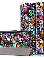 Недорогие -Кейс для Назначение SSamsung Galaxy Tab S4 10.5 (2018) / Tab A2 10.5(2018) T595 T590 / Samsung Tab S5e T720 10,5 Защита от удара / со стендом / Ультратонкий Чехол Слова / выражения Твердый Кожа PU