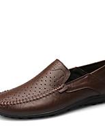 Недорогие -Муж. Официальная обувь Деним / Искусственная кожа Весна лето / Наступила зима Деловые Мокасины и Свитер Дышащий Черный / Темно-русый / Темно-коричневый / на открытом воздухе / Кожаные ботинки