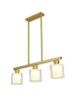 Недорогие -JSGYlights 3-Light Для кухонного острова Люстры и лампы Рассеянное освещение Медь Стекло Новый дизайн 110-120Вольт / 220-240Вольт