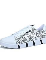 Недорогие -Муж. Комфортная обувь Полиуретан Весна лето На каждый день Кеды Нескользкий Черный / Белый / на открытом воздухе