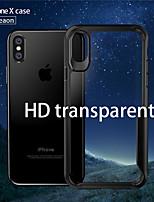 Недорогие -Кейс для Назначение Apple iPhone X Защита от удара / Защита от пыли Кейс на заднюю панель Однотонный Твердый ТПУ для iPhone X
