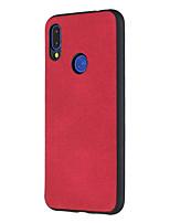 Недорогие -Кейс для Назначение Xiaomi Xiaomi Redmi 6 Pro / Xiaomi Redmi Note 7 / Redmi 6A Защита от пыли / Ультратонкий Кейс на заднюю панель Однотонный Твердый Кожа PU