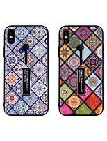 Недорогие -чехол для apple iphone xs max / держатель iphone 8 plus / противоударная задняя крышка с геометрическим рисунком закаленное стекло / пк / тпу для iphone 7/7 plus / 8/6/6 plus / xr / x / xs